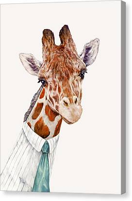 Mr Giraffe Canvas Print by Animal Crew