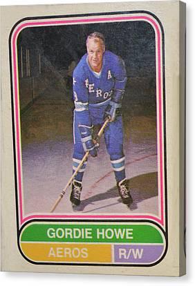 Gordie Howe Canvas Print - Mr Hockey by David Parsons