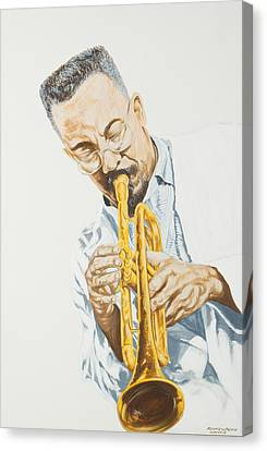 Mr. Lester Bowie On Trumpet Canvas Print by Roger W Price