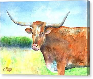 Mr. Longhorn Canvas Print by Arline Wagner