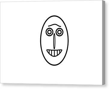 Mr Mf Has A Smile Canvas Print