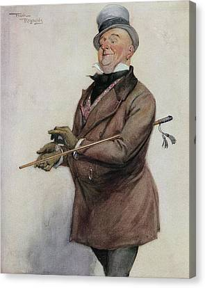 Mr Micawber From The Painting By Frank Canvas Print