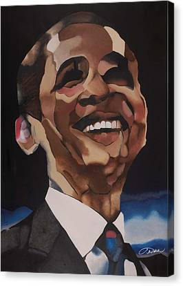 Mr. Obama Canvas Print by Chelsea VanHook