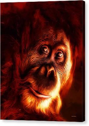 Mr Orangutan Portrait  Canvas Print by Scott Wallace