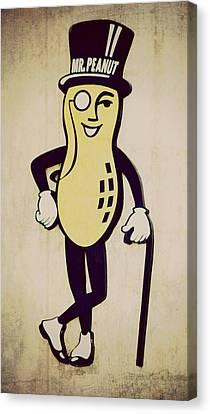 Mr Peanut Canvas Print by Robin Dickinson