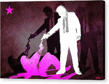 Banksy Canvas Print - Mr Pink And  Mr White by Surj