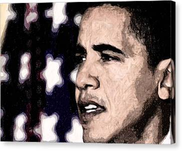 Barack Obama Canvas Print - Mr. President by LeeAnn Alexander