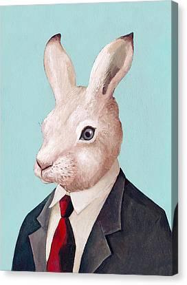 Mr Rabbit Canvas Print by Animal Crew