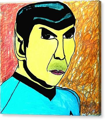 Mr. Spock Canvas Print by Paulo Guimaraes