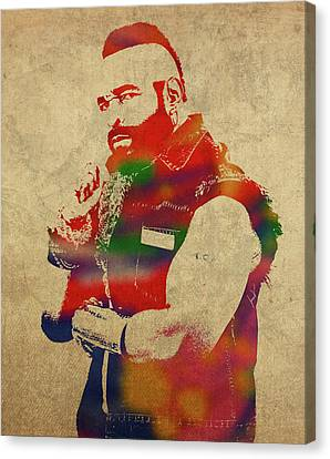 Pity Canvas Print - Mr T Watercolor Portrait by Design Turnpike