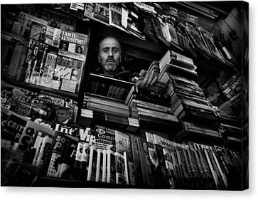 Mr. Valentino Canvas Print by Antonio Grambone