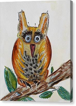 Mr.orange Owl Canvas Print