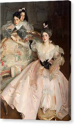 Mrs Carl Meyer And Her Children Canvas Print by John Singer Sargent