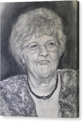 Mrs. Carol Paul Canvas Print by Adrienne Martino