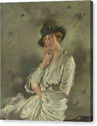 Mrs. Charles S. Carstairs Canvas Print by William Orpen
