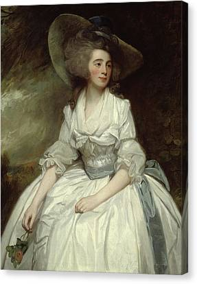 Francis Canvas Print - Mrs Francis Russell by George Romney