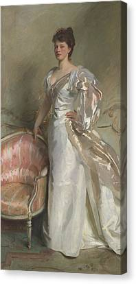 Mrs George Swinton  Elizabeth Ebsworth Canvas Print by John Singer Sargent