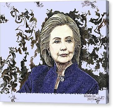 Mrs Hillary Clinton Canvas Print by Artful Oasis