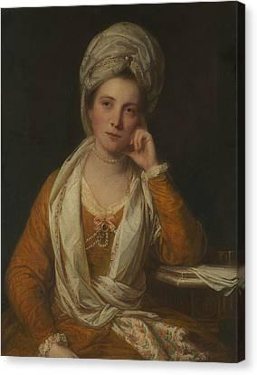 Mrs. Horton, Later Viscountess Maynard Canvas Print by Joshua Reynolds
