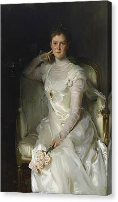 Mrs Joshua Montgomery Sears Canvas Print by John Singer Sargent