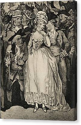 Mrs Mary Robinson 1757 Or 1758 To 1800 Canvas Print