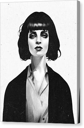 Black People Canvas Print - Mrs Mia Wallace by Ruben Ireland