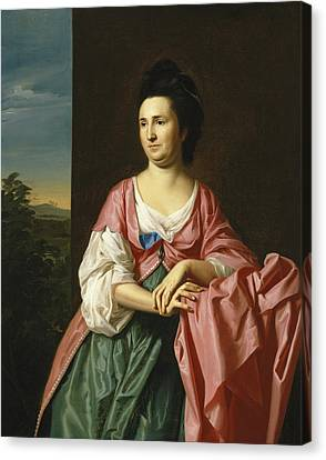 Mrs. Sylvester Gardiner Canvas Print by John Singleton Copley