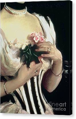 Choker Canvas Print - Mrs Wilton Phipps by John Singer Sargent