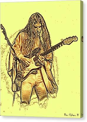 Mrsea #49 Enhanced Sketch In Amber Canvas Print by Ben Upham