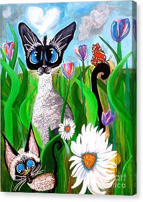 Ms Lily Momma Bonnie The Butterfly Canvas Print by Mary Sisson