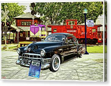 Ms Liz The 49 Cadillac Canvas Print by Rogermike Wilson
