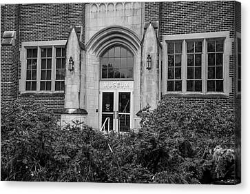 Msu Museum Black And White  Canvas Print