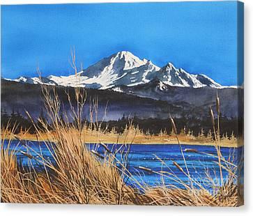 Mt Baker Wiser Lake Canvas Print by James Williamson