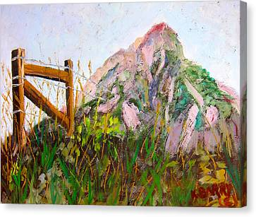 Mt. Crested Butte And Fence Canvas Print