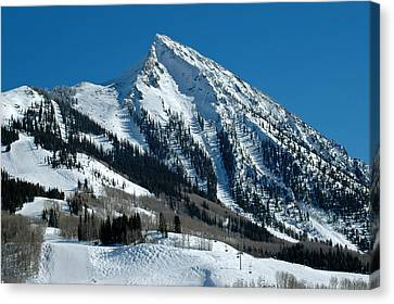 Mt Crested Butte Canvas Print by Teresa Blanton