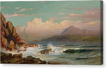 Maine Mountains Canvas Print - Mt Desert   Maine by William Trost Richards