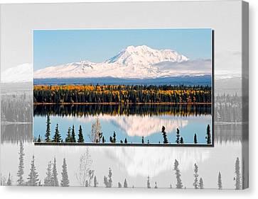 Canvas Print featuring the photograph Mt. Drum - Alaska by Juergen Weiss