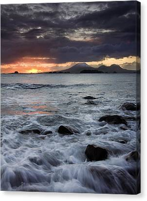 Mt. Edgecumbe Sunset Canvas Print by Mike  Dawson