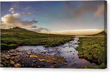 Canvas Print featuring the photograph Mt. Evans Alpine Stream by Chris Bordeleau