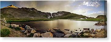 Canvas Print featuring the photograph Mt. Evans Summit Lake by Chris Bordeleau