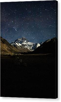 Gaurav Agrawal Canvas Print - Mt Everest At Night by Gaurav Agrawal