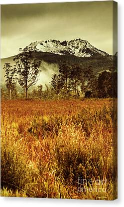 Mt Gell. Tasmania National Park Of Franklin Gordon Canvas Print by Jorgo Photography - Wall Art Gallery