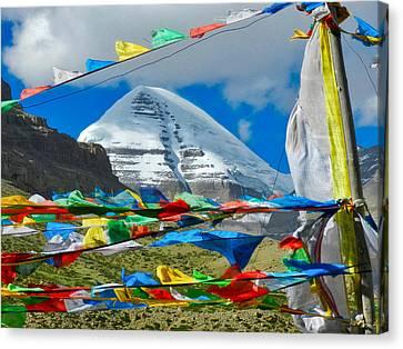 Milarepa Canvas Print - Mt Kailash by Jane Selverstone