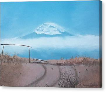 Canvas Print featuring the painting Mt. Kilimanjaro by Susan Roberts