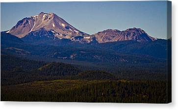 Mt Lassen And Chaos Crags Canvas Print by Albert Seger