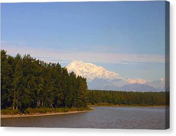 Canvas Print featuring the photograph Mt. Mckinley Alasa 0755 by Jack G  Brauer