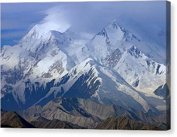 Canvas Print featuring the photograph Mt. Mckinley Alaska by Jack G  Brauer