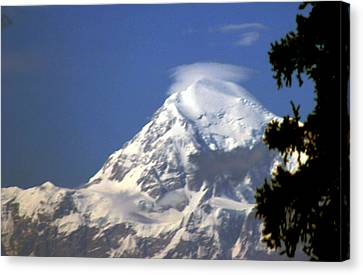 Canvas Print featuring the photograph Mt. Mckinley From 60 Miles Away by Jack G  Brauer