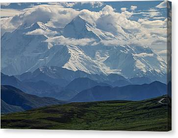 Canvas Print featuring the photograph Denali by Gary Lengyel