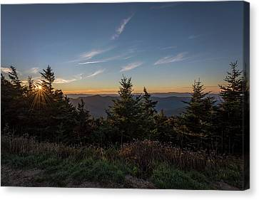 Canvas Print featuring the photograph Mt Mitchell Sunset North Carolina 2016 by Terry DeLuco